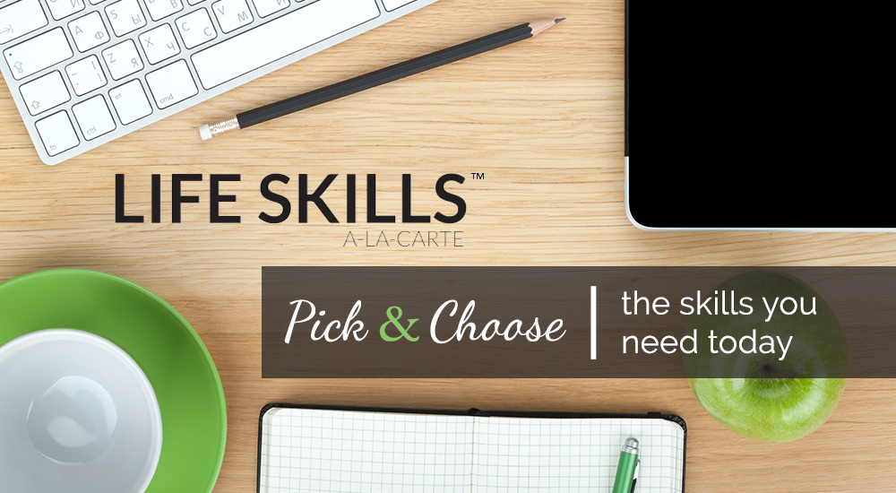 Picture of a desk from above: Life Skills A La Carte - Pick and Choose the Skills you need today